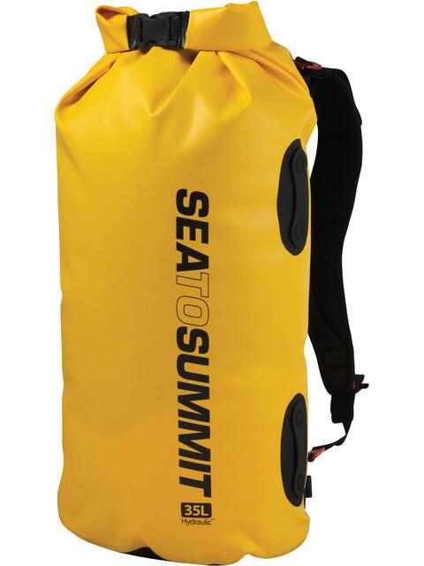 Sea to Summit Hydraulic - Para tener el equipaje ordenado - with Harness 35l amarillo
